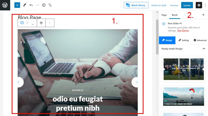 PostX User Interface